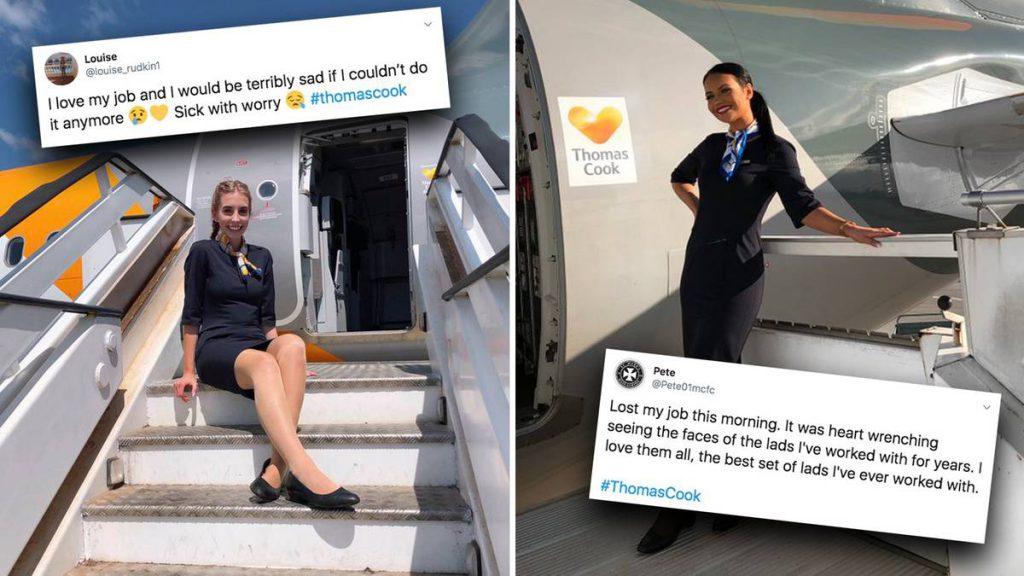 Auf Twitter: Nach Thomas-Cook-Pleite: Flugbegleiter trauern um ihre Jobs