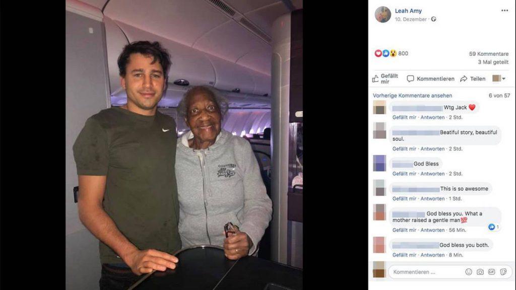 Langstreckenflug: 88-jähriger Dame wird ein großer Wunsch erfüllt: Ein Fremder tauscht im Flieger den Sitzplatz mit ihr