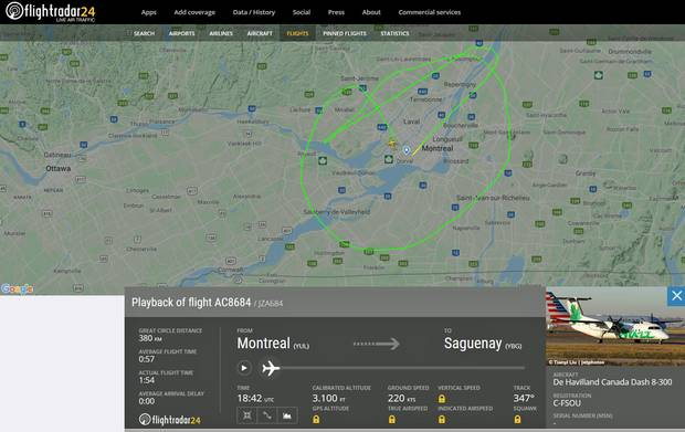 Karte Flightradar24.com