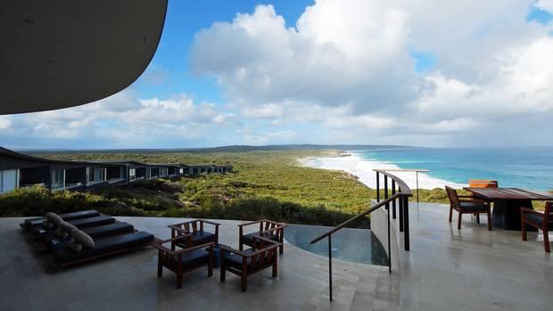 Terrasse der Southern Ocean Lodge