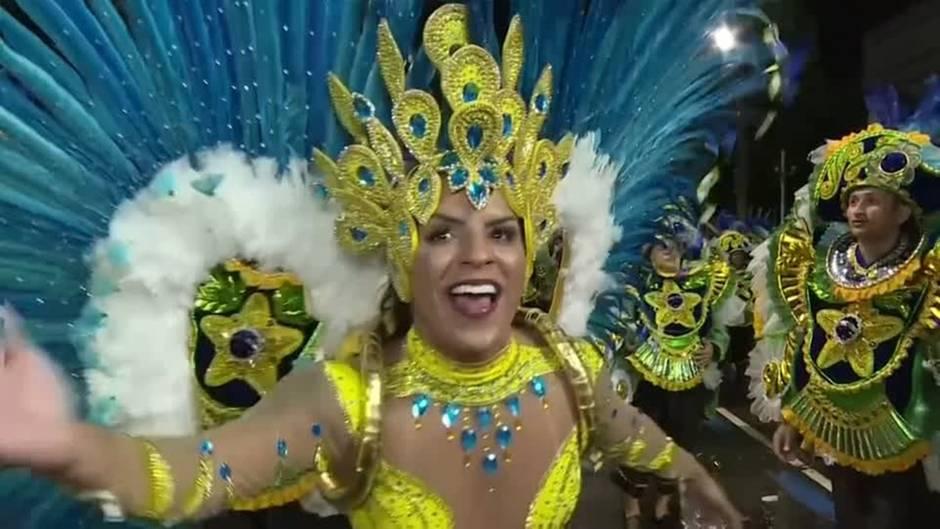 Video: Sambaschulen in Rio zeigen ihr Können